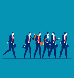 Group business people go to work concept business vector