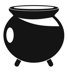 halloween cauldron icon simple style vector image