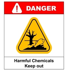 harmful chemicals keep out hazardous to aquatic vector image