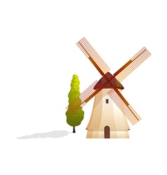 icon windmill vector image