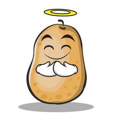 Innocent potato character cartoon style vector