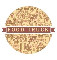 Label food van vector image