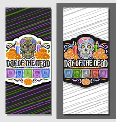 layouts for day dead vector image