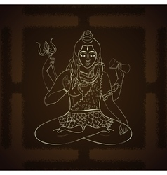 Lord Shiva Hindu gods Indian vector image
