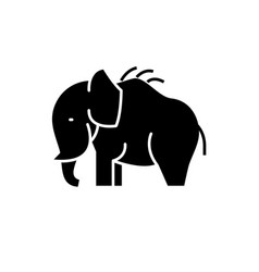 mammoth black icon sign on isolated vector image