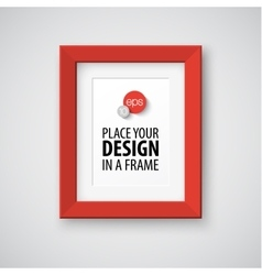 Modern photo frame vector image