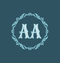 monogram aa letters - concept logo template design vector image