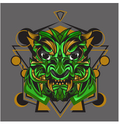 Monster green vector