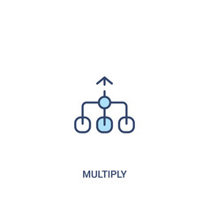 Multiply concept 2 colored icon simple line vector