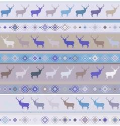 Norwegian Christmas pattern vector