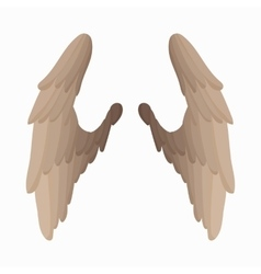Pair of bird wings icon cartoon style vector