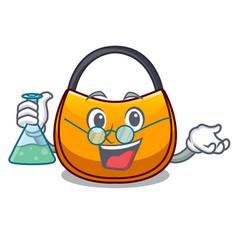 Professor beautifully hobo bag on character funny vector
