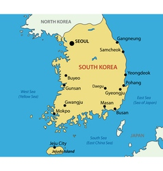 Republic of Korea - map vector image