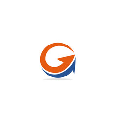 round arrow circle logo vector image