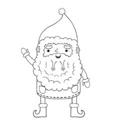 Santa Claus contour vector image