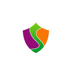 Shield letter s abstract logo vector