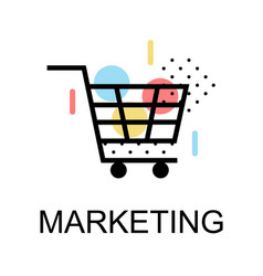 Shopping cart icons for marketing on white vector