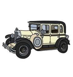 the vintage cream limousine vector image