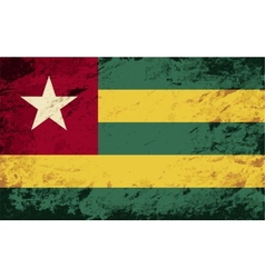 Togolese flag Grunge background vector image