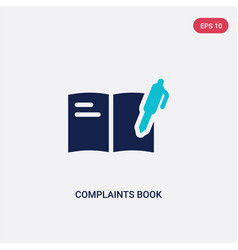 Two color complaints book icon from vector