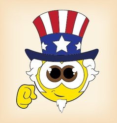 Uncle sam smiley vector
