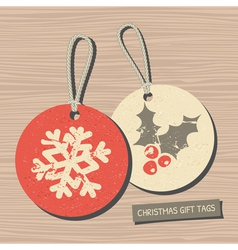Vintage style christmas gift tags vector