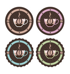 vintage style simple coffee icons vector image