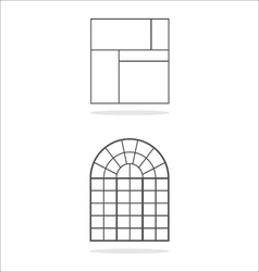 Window frames vector
