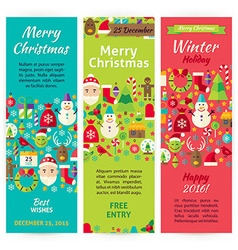 Winter Christmas Holiday Invitation Template Flyer vector image