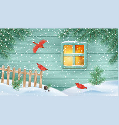 winter snowy scene vector image