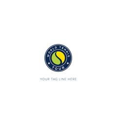 World championship tennis logo sport yellow vector