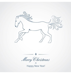 A Horse - symbol of new 2014 year vector image vector image