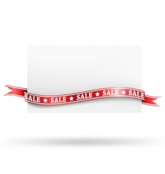 blank sale tag with ribbons vector image vector image