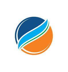 circle business logo vector image