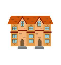 houses facade brick windows door traditional vector image