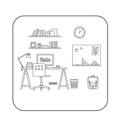 interior of workplace vector image