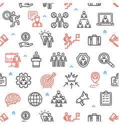 management business pattern background concept vector image vector image
