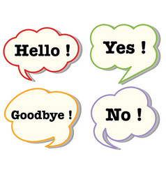 speech bubbles with words vector image vector image