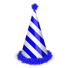 blue birthday cap vector image vector image
