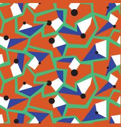 geometric memphis style modern seamless pattern vector image vector image