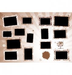 photo album page vector image
