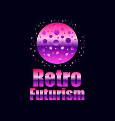 retro futurism in 80s retro style space travel vector image