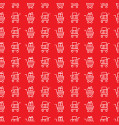 store trolley seamless pattern vector image vector image