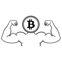 the concept of strong bitcoin vector image