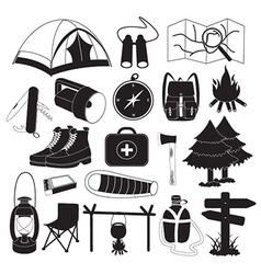 Camping Icons Collection vector image