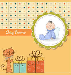 funny cartoon baby shower card vector image vector image