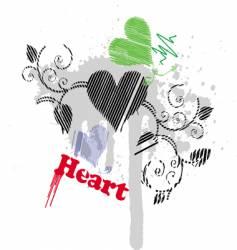heart splash vector image vector image