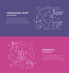 Rhythmic Gymnastics Concept vector image vector image