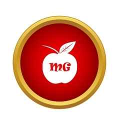 Apple with formula icon simple style vector image vector image