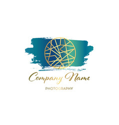 brush logo design template for corporate vector image